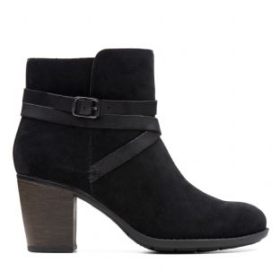 Clarks Enfield Coco Black Womens Boots